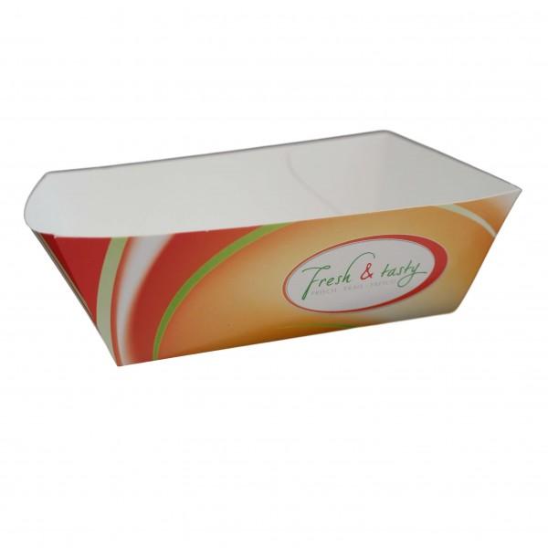 Snackschale, Pappschale (Fresh & Tasty) 124 x 87 x 42 mm