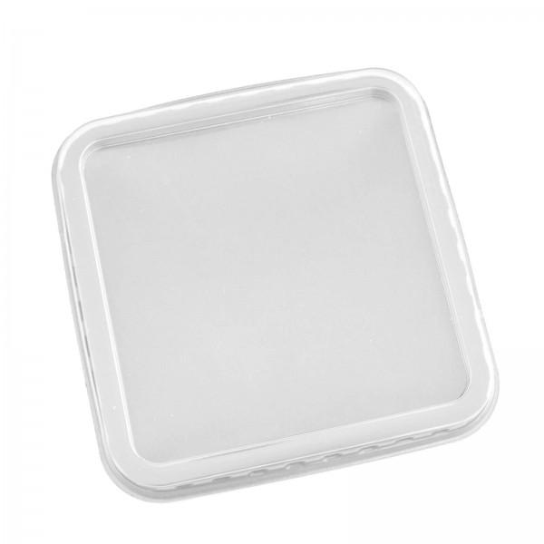 Transparenter Salatschalendeckel PET 115 x 115 mm