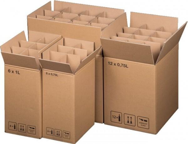 Exportflaschenkartons mit Gefache