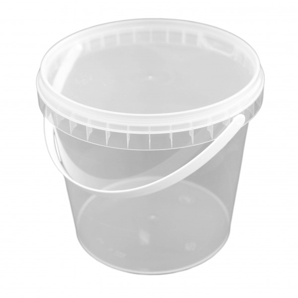 transparenter Originalitätsverschlussbecher rund PP mit Henkel