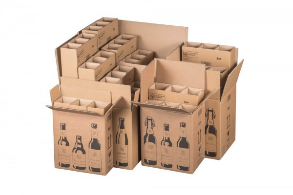 Bierversandkarton Flex 0,33 l - 0,5 l Set