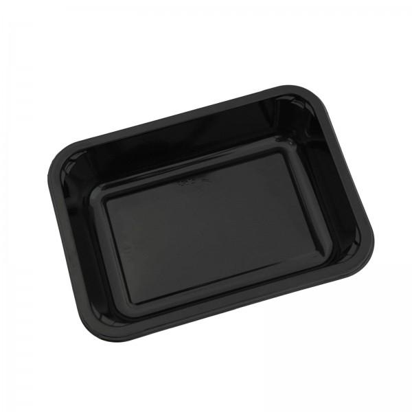 Siegelschale C-PET schwarz, ungeteilt