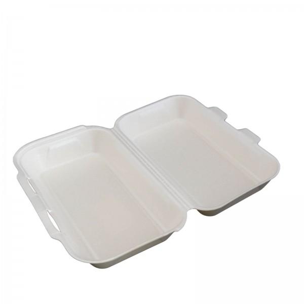 Thermo-Klappbox Menübox EPS Styropor cream, ungeteilt