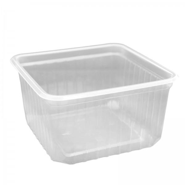 Transparente Salatschale Quadrobox PP 115 x 115 x 61 mm (500 ml)