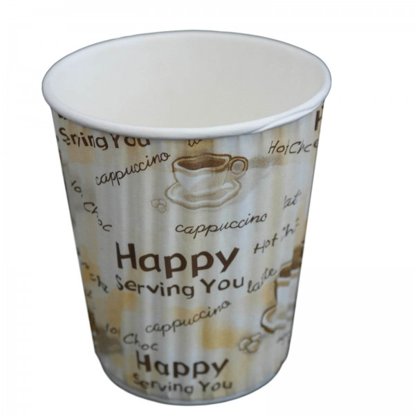 Papp Trinkbecher Coffee to go (Riffle Cup) creme