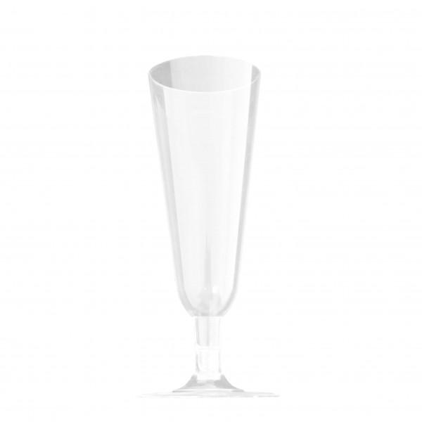 transparentes Einweg Sektglas PS-Spritzguss 2-teilig