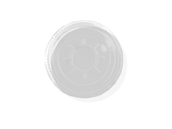 weißer Deckel für Trinkbecher 0,3 l mit Schaumrand und Rundloch (Ø 95 mm)
