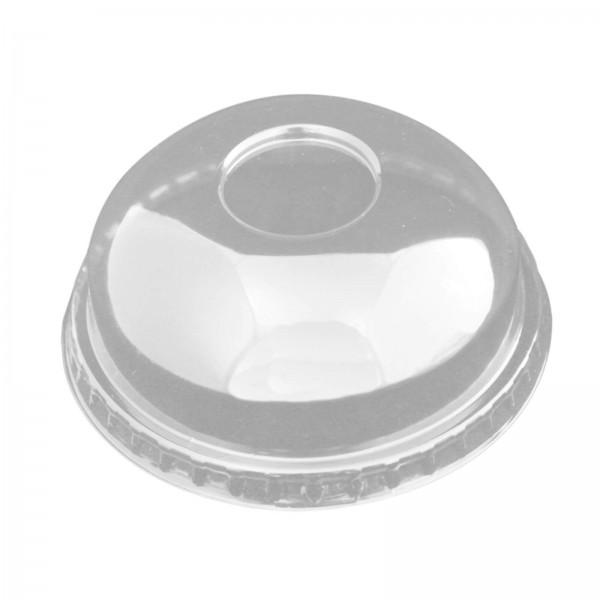 transparenter Domdeckel für Smoothie Clear Cups PET (Ø 95 mm) ohne Rundloch