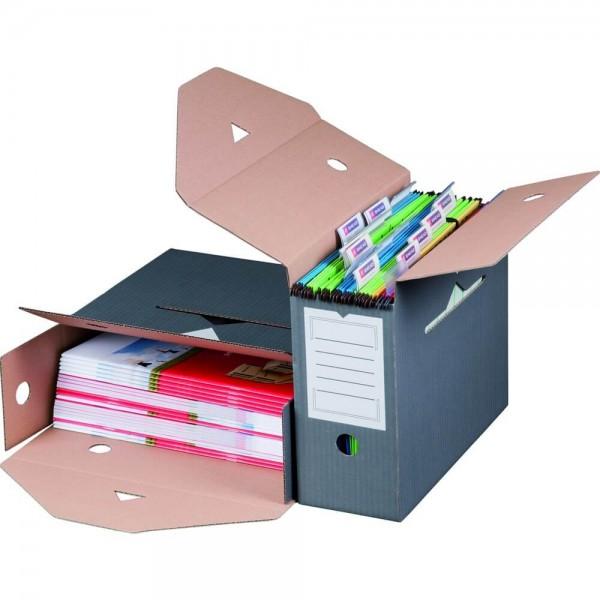 Color Archiv-Ablagebox für Hängemappen, anthrazit