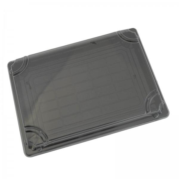 schwarze Sushi-Tray Schale mit Deckel