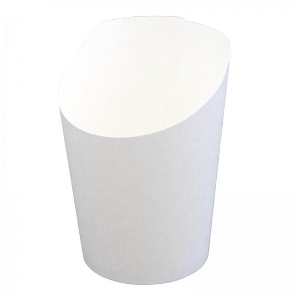 weißer Wrapbecher aus Hartpapier 55 x 100 mm