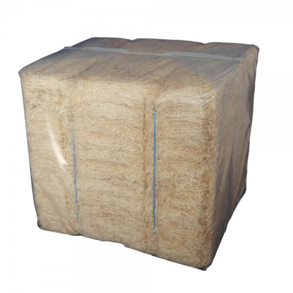 10 kg Fichtenholzwolle abgepackt im PE-Sack