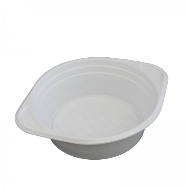 weiße Kunststoff-Suppenterrine
