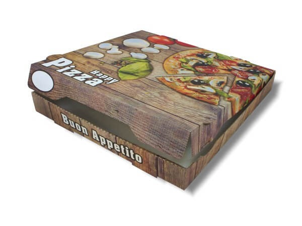 Brauner KRAFT Pizzakarton extra hoch Motiv (PICCANTE)