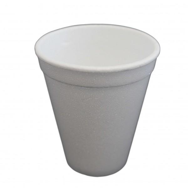 weißer Trinkbecher EPS (Styropor) 0,18 l Ø 75 x 85 mm (7 oz)