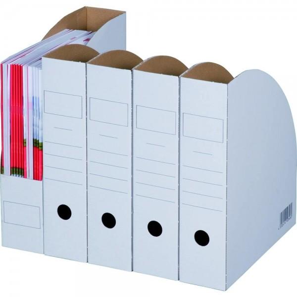 """weiße Archiv-Stehsammler """"Bianco"""" 78 mm"""