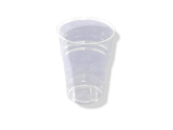 transparenter PLA Becher, Bio Trinkbecher kompostierbar