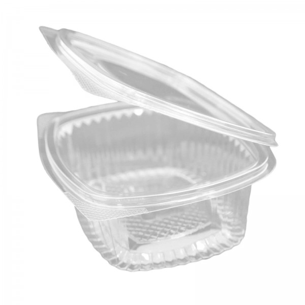 Hochtransparente Salat-Klappbox PET, oval