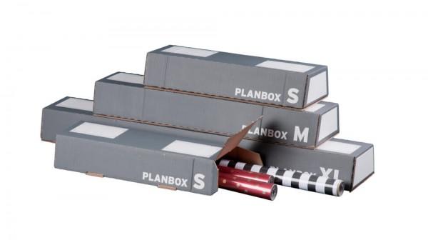 Trapez-Versandverpackung, Plan-Box anthrazit SK