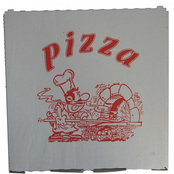 Weißer Pizzakarton alukaschiert