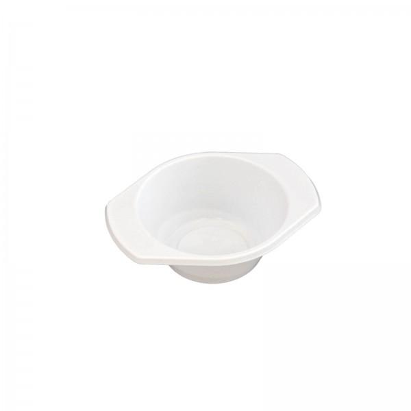 weiße Kunststoff-Probierschale PP oval mit Ohren 98 x 78 x 30 mm (65 ml)