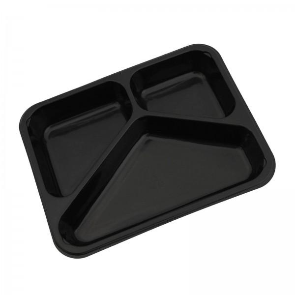 Siegelschale PP Tray schwarz, 3-geteilt