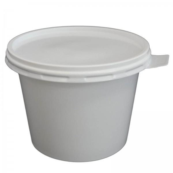 weißer Feinkostbecher mit Deckel PP