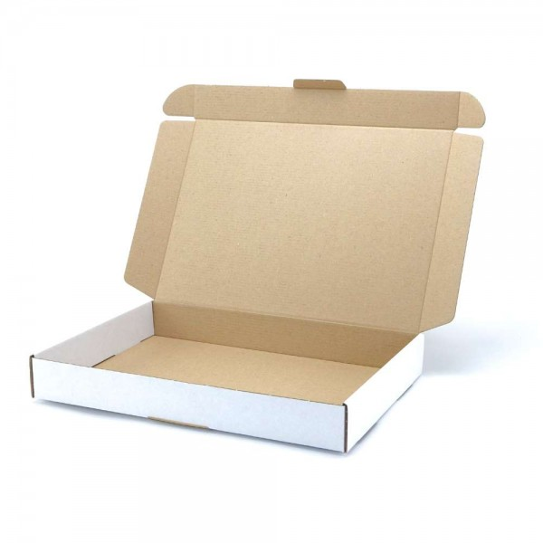 350 x 250 x 50 mm Maxibrief Karton, weiß (Außenmaß)