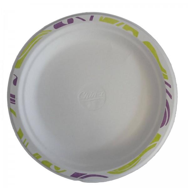 Weißer Chinet Teller mit Decor (Flavour)