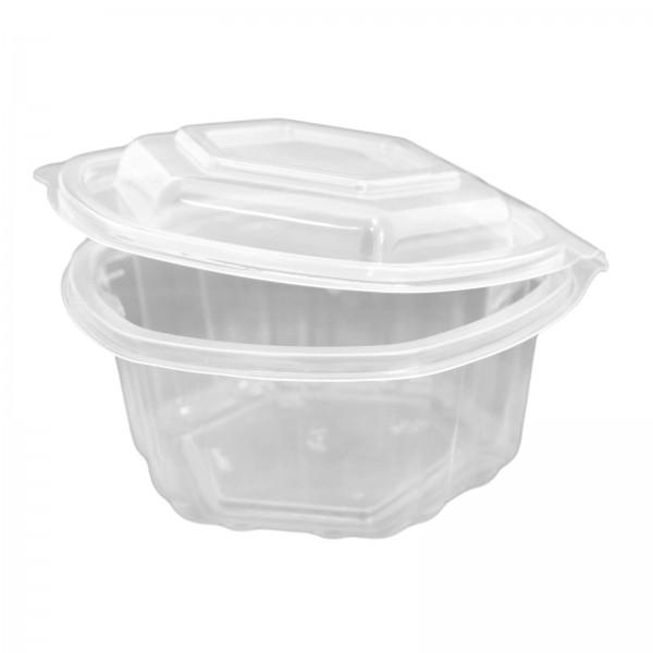 Transparente Salatschale (Haushaltsklappbox) sechseckig