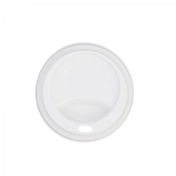 weißer Deckel für Coffee-To-Go Becher aus PS 0,4 l (Ø 90 mm)