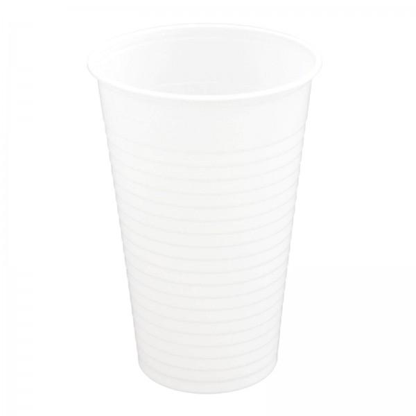 weißer Trinkbecher PP 0,2 l