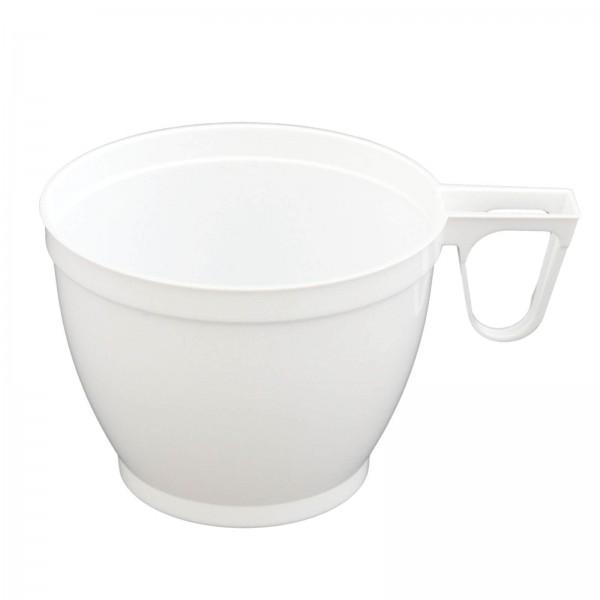 weißer Trinkbecher Kaffeetasse 160 ml mit Griff