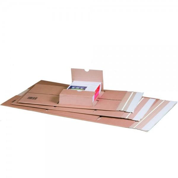 Buchverpackung Standard Aufnahme mittige, braun,