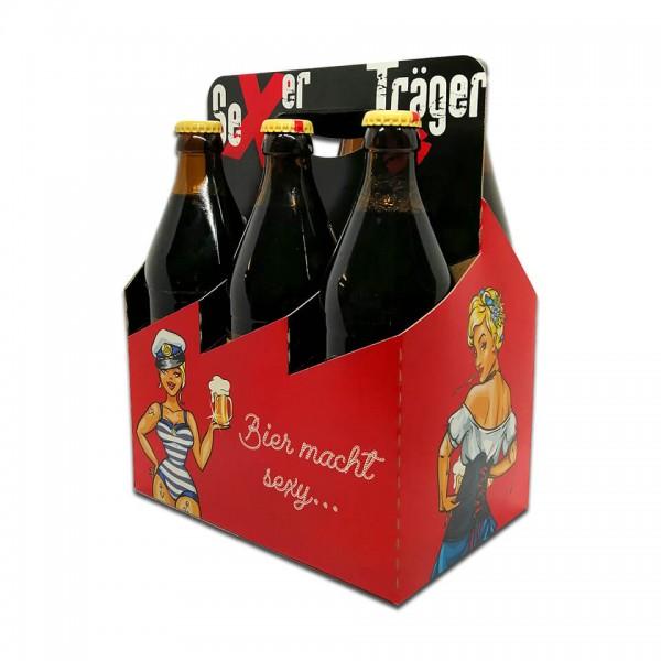 Bierträger 0,5 l Sixpack mit neutralem Druck