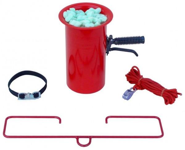 Abfülltrichter mit geradem Auslauf, rot, inkl. Zubehör