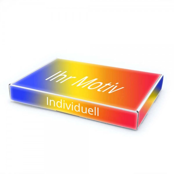 350 x 250 x 50 mm Maxibrief Karton, weiß (Außenmaß) mit Digitaldruck