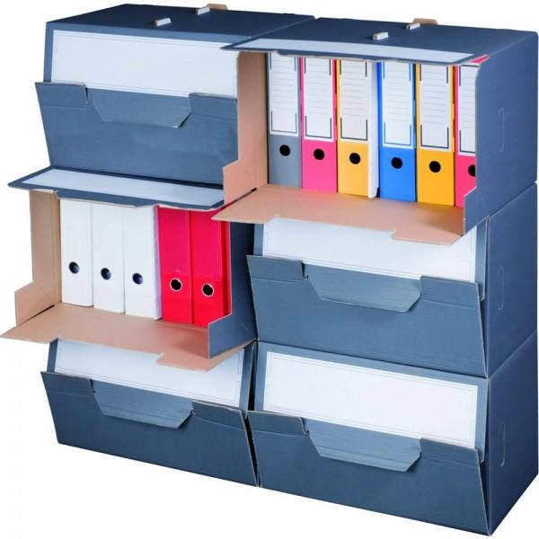 Color Archiv-Box für Ordner, mit Frontklappe, anthrazit
