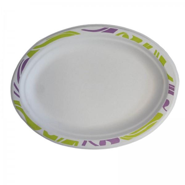 Ovaler Chinet Teller mit Decor (Flavour) 26 x 19 x 1,5 cm