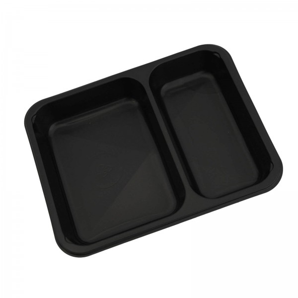 Siegelschale PP Tray schwarz, 2-geteilt