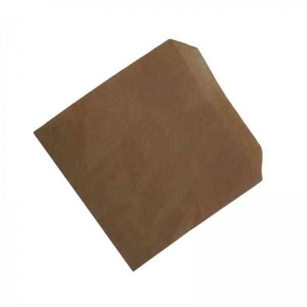 Flachbeutel, Anfasspapier braun Kraftpapier 16 x 15 cm (ohne Druck)