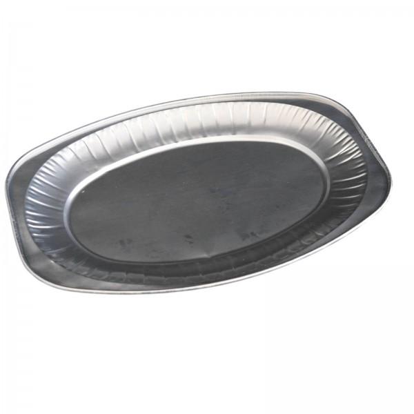 Ovale Alu-Servierplatte