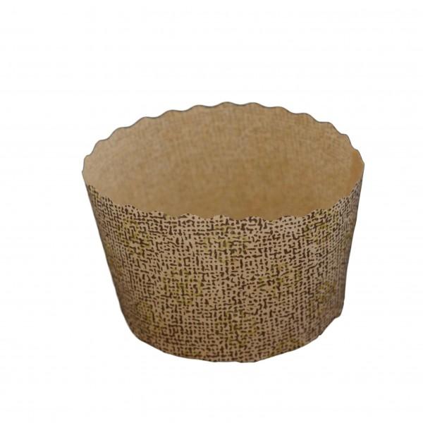 Snack-Wrap-Kapsel rund braun/gold 7cm, Höhe: 5cm