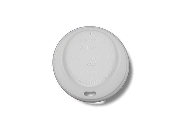weißer PLA-Deckel für Bio Pappbecher