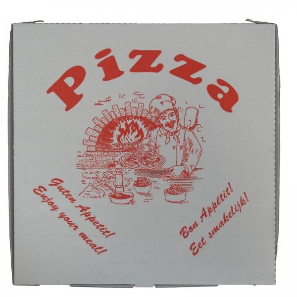 weißer Pizzakarton KRAFT