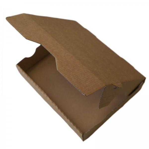 Braune Menüschalenbox für Aluschalen