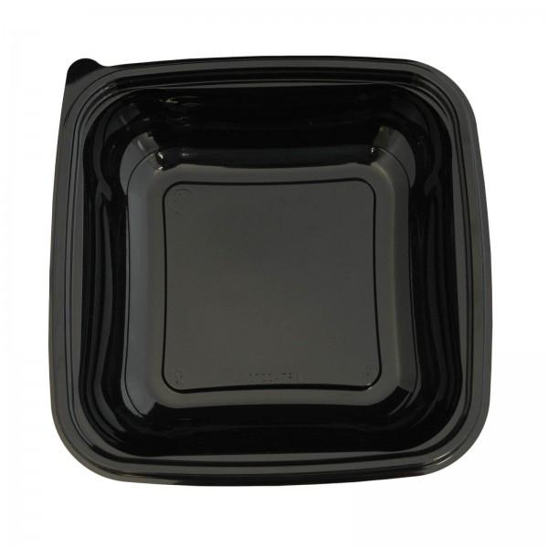 Schwarze Salatschale PET 190 x 190 x 42 mm