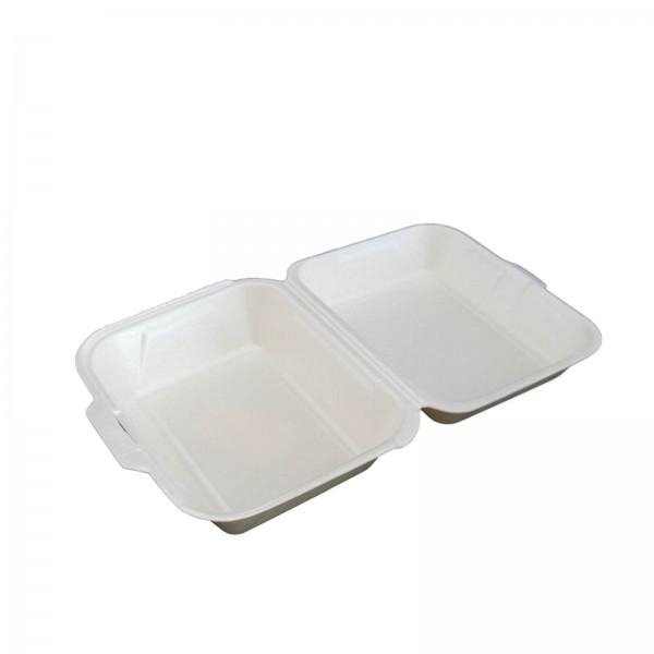 Thermo-Klappbox Lunchbox EPS Styropor cream, 185 x 155 x 80 mm