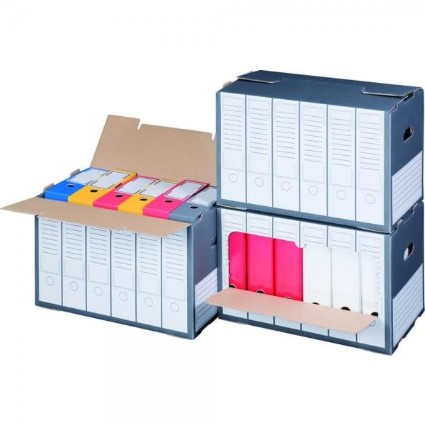 Color Archiv-Box für Ordner, mit Deckelöffnung, anthrazit