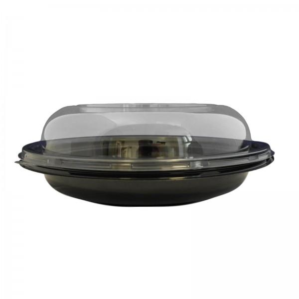 Schwarze Salatschale mit Domdeckel Ø 225 mm (750 ml)